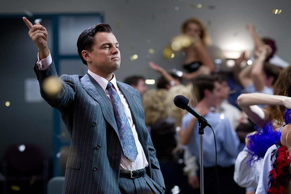 A still from 'The Wolf of Wall Street'.
