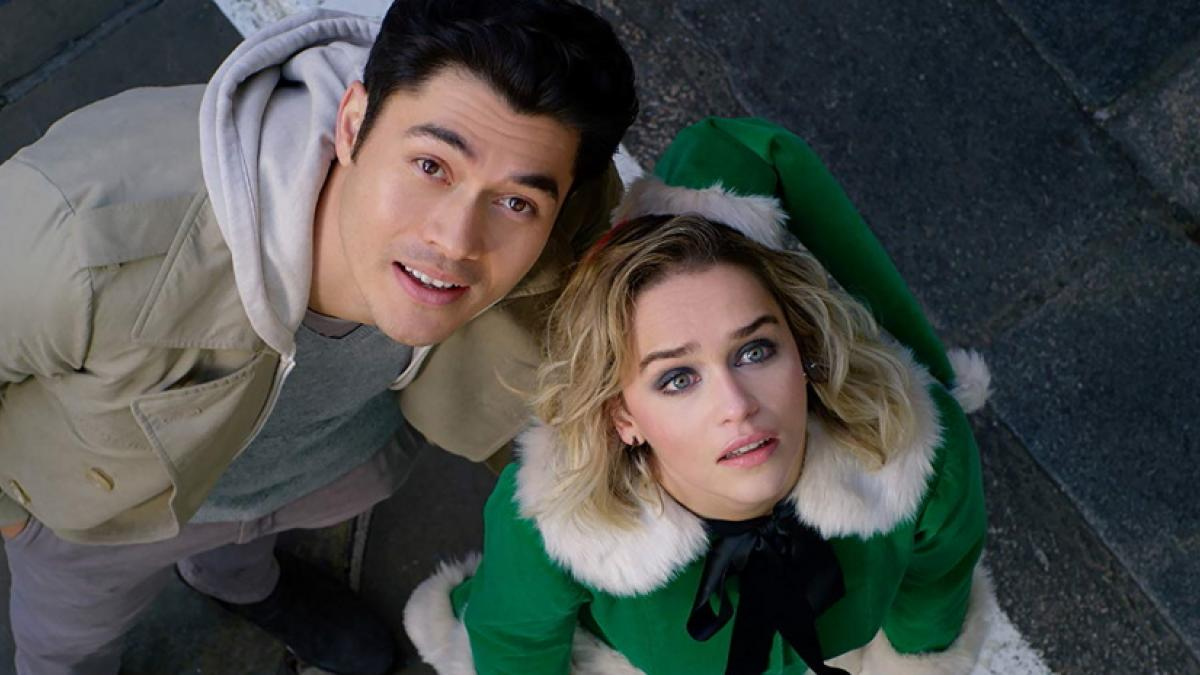 Tom (Henry Golding) and Kate (Emillia Clarke) are looking for Yuletide love in Paul Feig's Last Christmas.