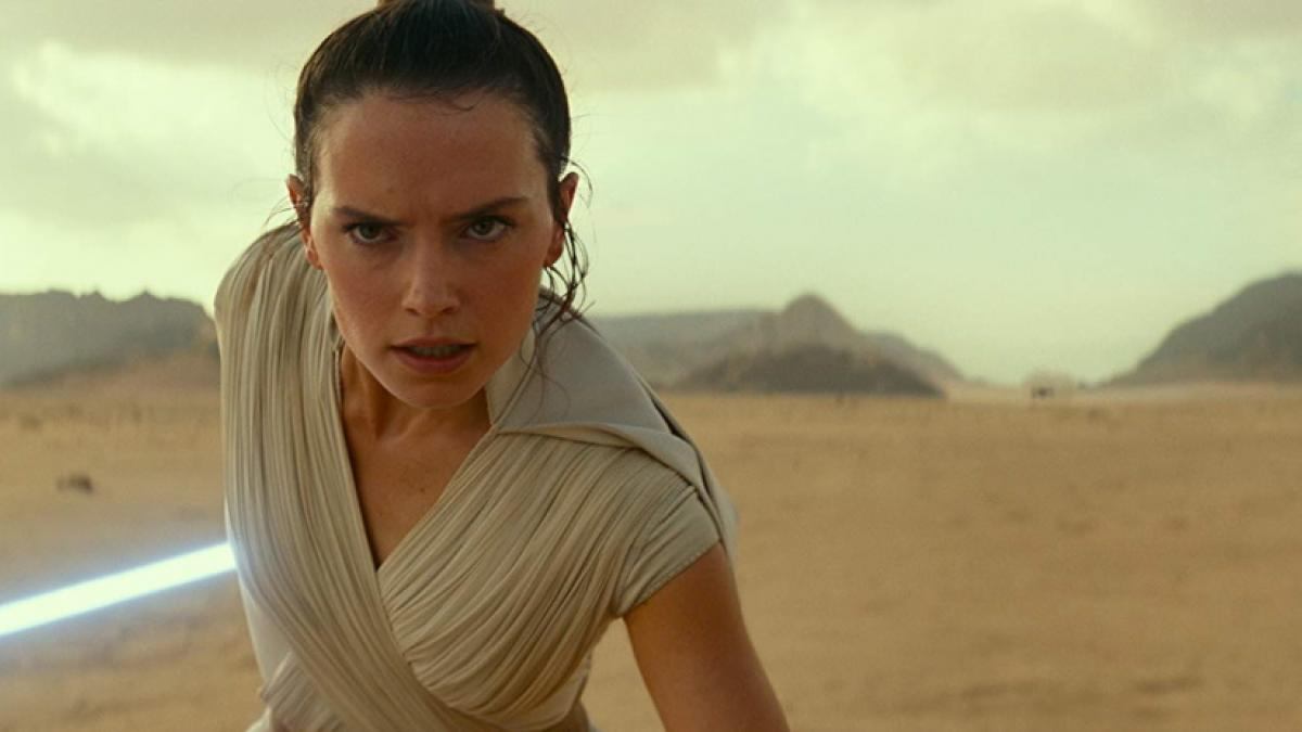 Rey (Daisy Ridley) faces the Dark Side one last time in J.J. Abrams 'Star Wars: The Rise of Skywalker'.