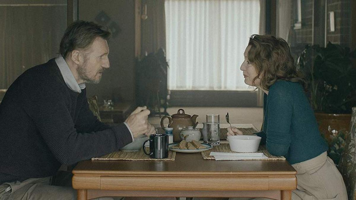 Married couple Tom (Liam Neeson) and Joan (Lesley Manville) confront an uncertain future in 'Ordinary Love'.