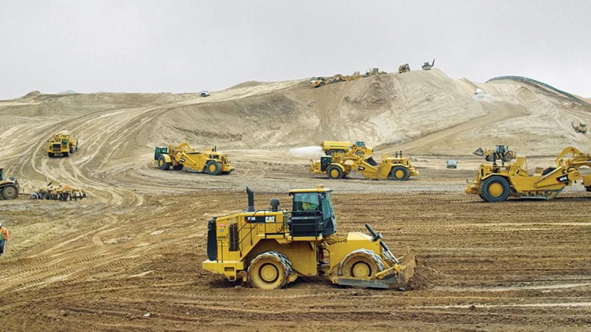 Heavy machinery moves terra firma in Nikolaus Geyrhalter's 'Earth'.