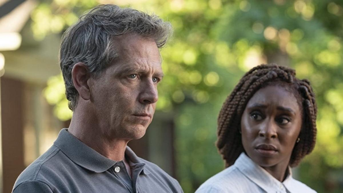 Ben Mendelsohn (left) and Cynthia Erivo are on the trail of a monster in Richard Price's 'The Outsider'.