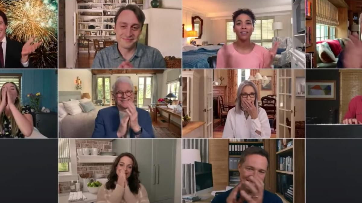 The cast of 'Father of the Bride' and 'Father of the Bride Part II' reunites for a online charity short.
