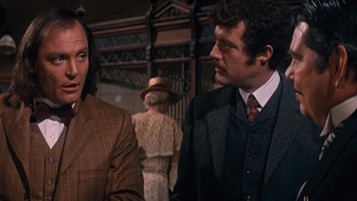 "Stacy Keach (left) is an iternerant executioner who falls for one of his ""clients"" in  Jack Smight's 'The Traveling Executioner'."