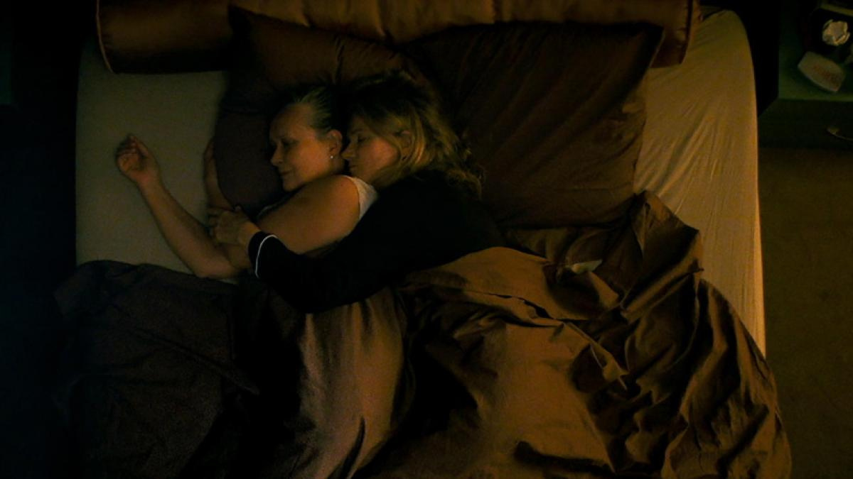 Martine Chevallier (left) and Barbara Sukowa have their closeted but content relationship turned upside-down in Filippo Meneghetti's 'Two of Us'.