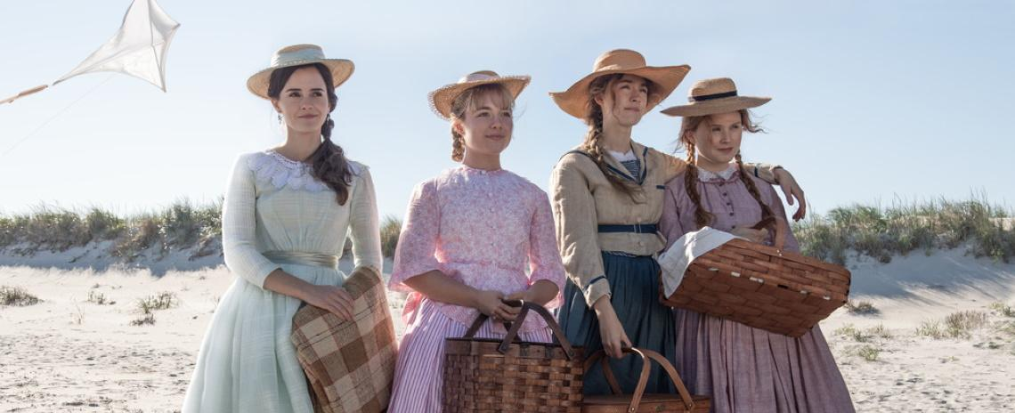 Meg, Amy Jo, and Beth March (left to right: Emma Watson, Florence Pugh, Saoirse Ronan, and Eliza Scanlen) are doing it for themselves in Greta Gerwig's 'Little Women'.