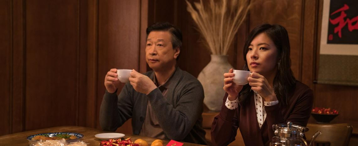 Pin-Jui (Tzi Ma, left) and his daughter Angela (Christine Ko) comtemplate the past and the future in Alan Yang's 'Tigertail'.