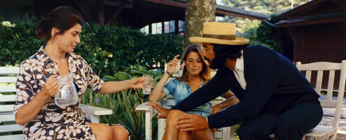 (Left to right) Aurora Cornu, Laurence de Monghan, and Jean-Claude Brialy in Éric Rohmer's 'Claire's Knee'.